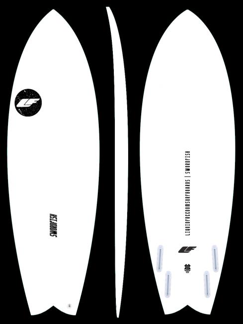 Swordfish - Performance fish surfboard by LIQUID FREEDOM