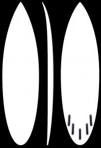 Hotrod - Good wave performance surfboard by LIQUID FREEDOM